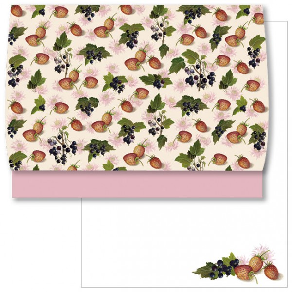 Schreib-Set 'Erdbeeren und Johannisbeeren'