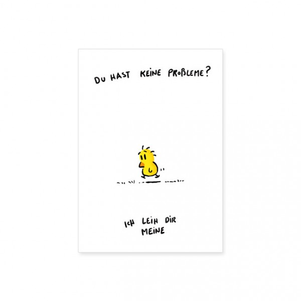 """Postkarte """"Keine Probleme"""""""