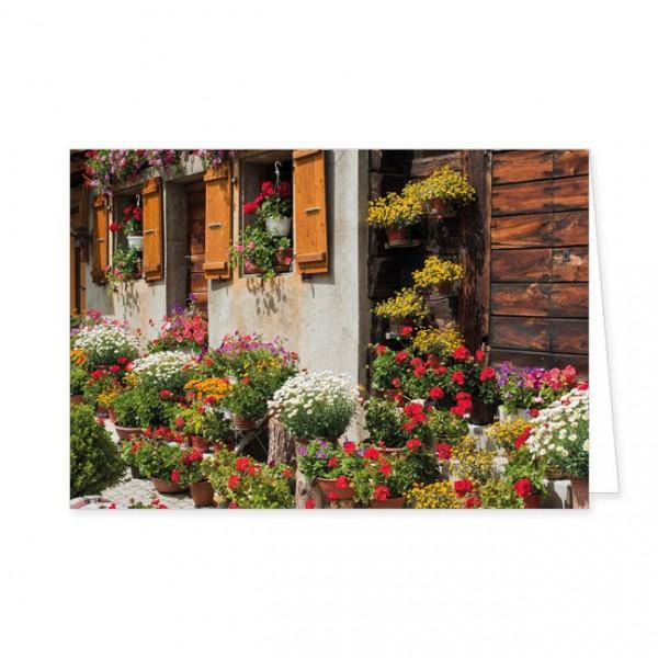 """Doppelkarte """" Bauerngarten """""""