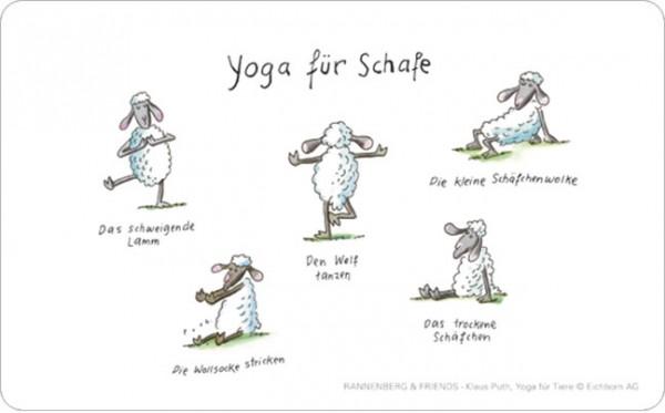 """Brettchen """"Yoga für Schafe"""""""