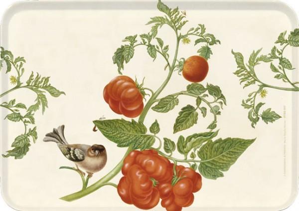 """Tablett small """"Tomate und Buchfink"""""""
