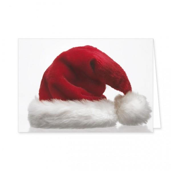 """Doppelkarten X-Mas """"Weihnachtsmannmütze"""""""