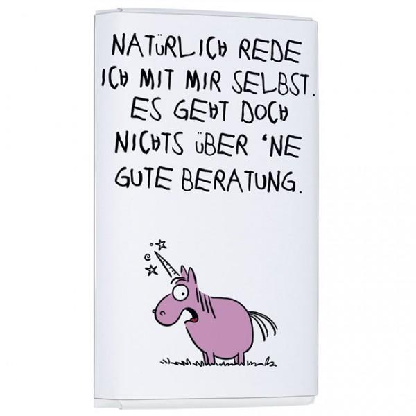 Schokoladentäfelchen 'Gute Beratung' von Alexander Holzach
