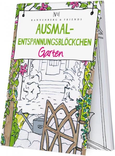 Spieleblöckchen 'Ausmalentspannungsblöckchen - Garten'