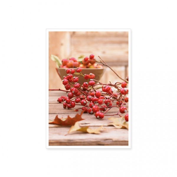 """Postkarte """"Herbstliche Tischdekoration"""""""