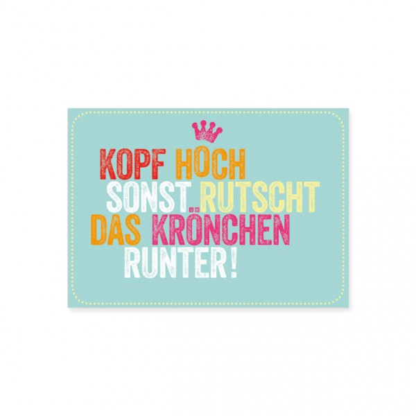 "Postkarte ""Krönchen"""