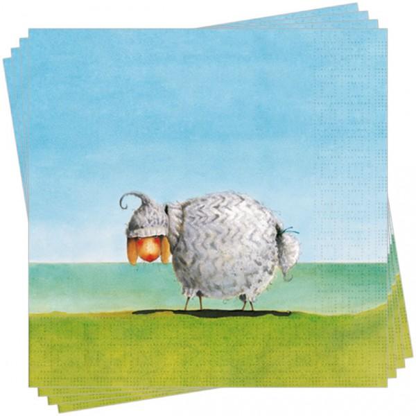 """Servietten """"Schelly Schaf mit Mütze"""" (Sonderpreis)"""