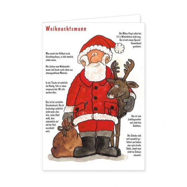 """Doppelkarten X-Mas """"Weihnachtsmann"""""""