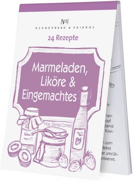 """Rezeptblöckchen """"24 Rezepte - Marmelade, Likör und Eingemachtes"""""""