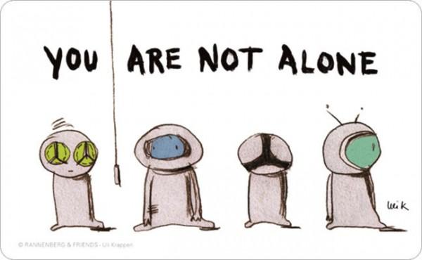 Frühstücksbrettchen 'You Are Not Alone'
