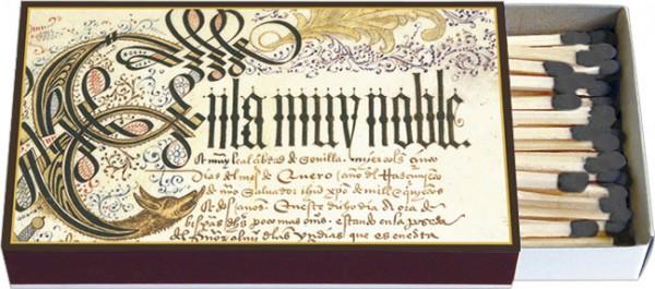 Zündholz-Schachteln 'Erste Seite des Privilegienbuches des C. Kolumbus'