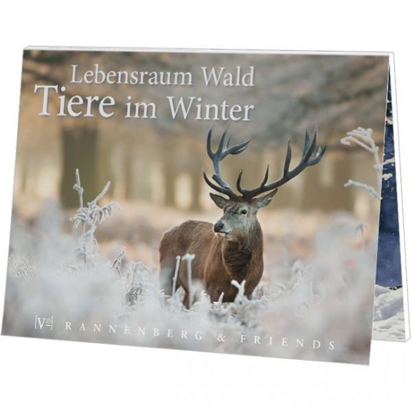 """Postkartenbuch """" Lebensraum Wald - Tiere im Winter """""""