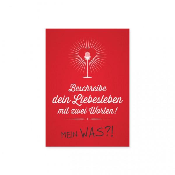 """Postkarte """"Liebesleben"""""""