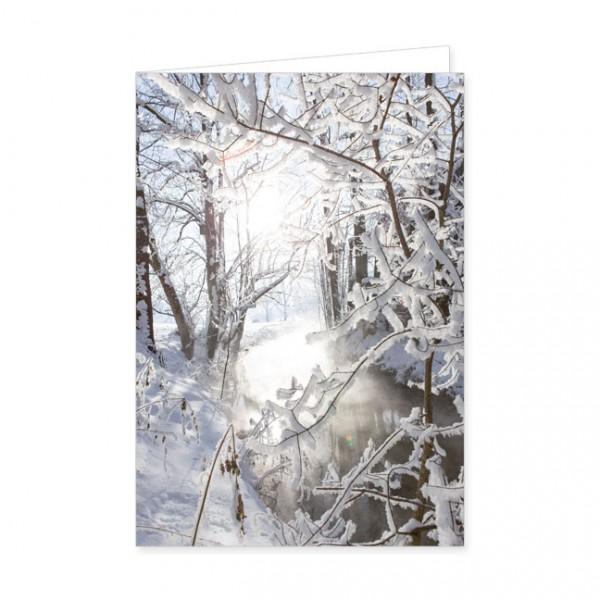 """Doppelkarte """"Winterlicher Fluß"""""""