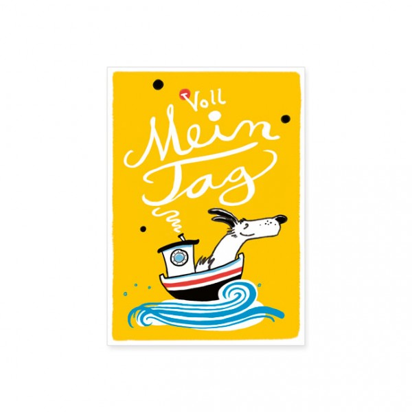 "Postkarte ""Voll mein Tag"""