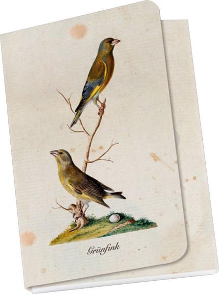 Taschennotizblöckchen 'Grünfink'