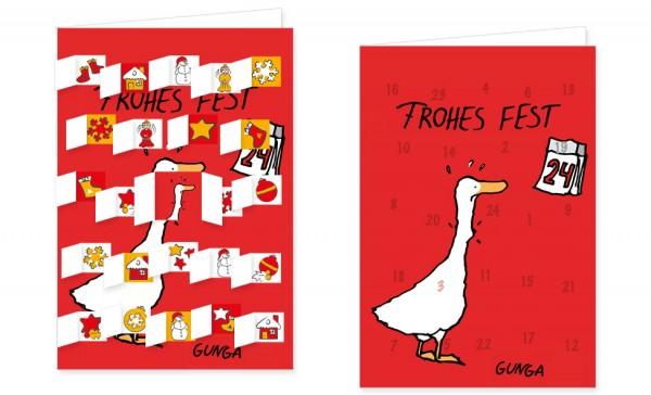 Adventskalenderdoppelkarte 'Frohes Fest'