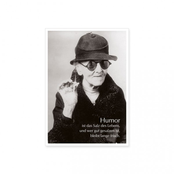 """Postkarte """"Humor ist das Salz..."""""""