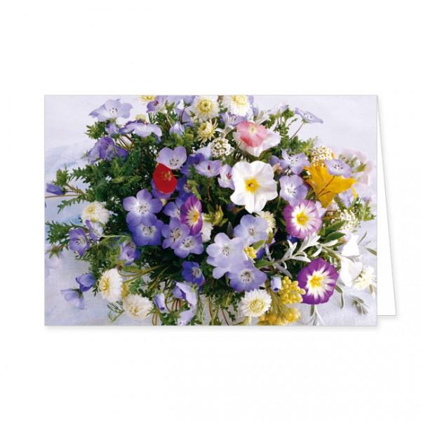 """Doppelkarte """"Ein bunter Blumensttrauß"""""""