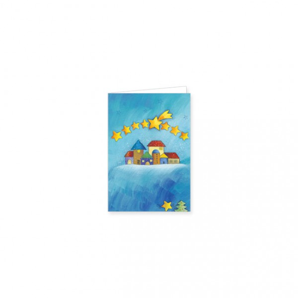 "Mini-Doppelkarte X-Mas ""sternennacht"""