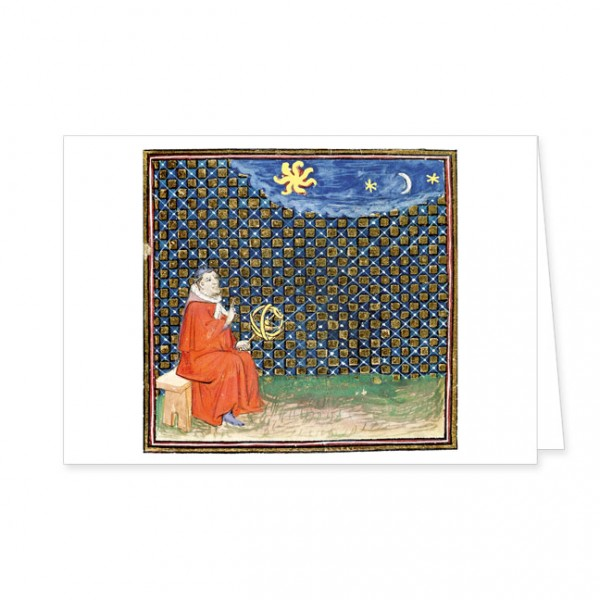 "Doppelkarte Gold ""Die Eigenschaften des Himmels"""