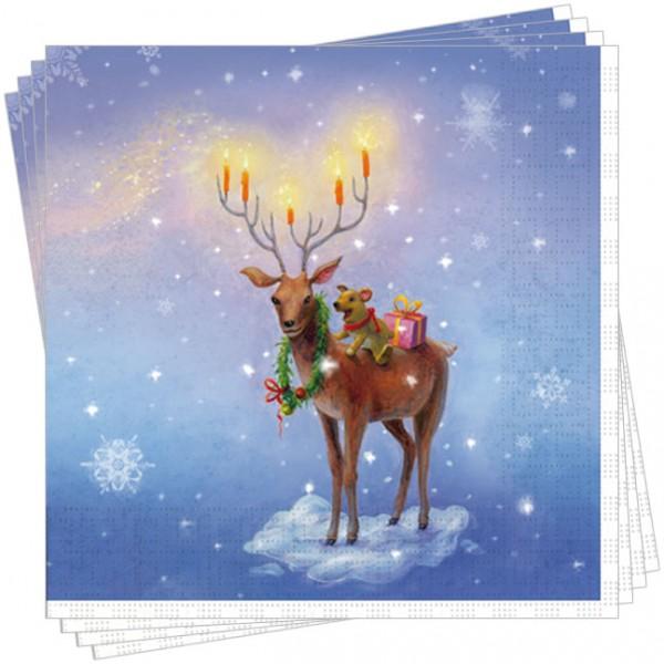 Servietten X-Mas 'Weihnachtshirsch'