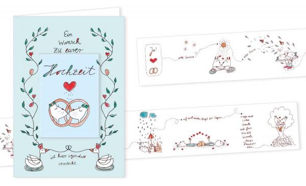 """Türchenkarte """"Ein Wunsch zu eurer Hochzeit"""""""