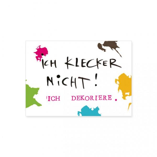 """Postkarte """"Ich klecker nicht"""""""