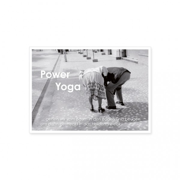 "Postkarte ""Power Yoga"""