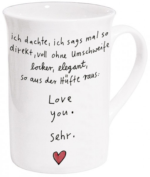 Becher 'Love you sehr' von karindrawings