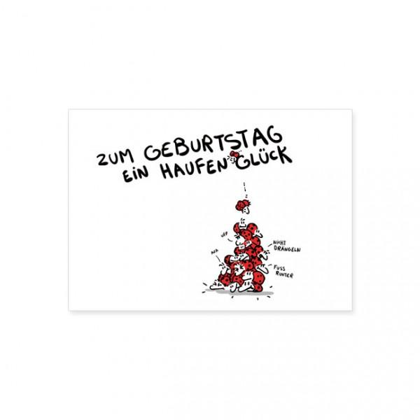 """Postkarte """"Ein Haufen Glück"""""""