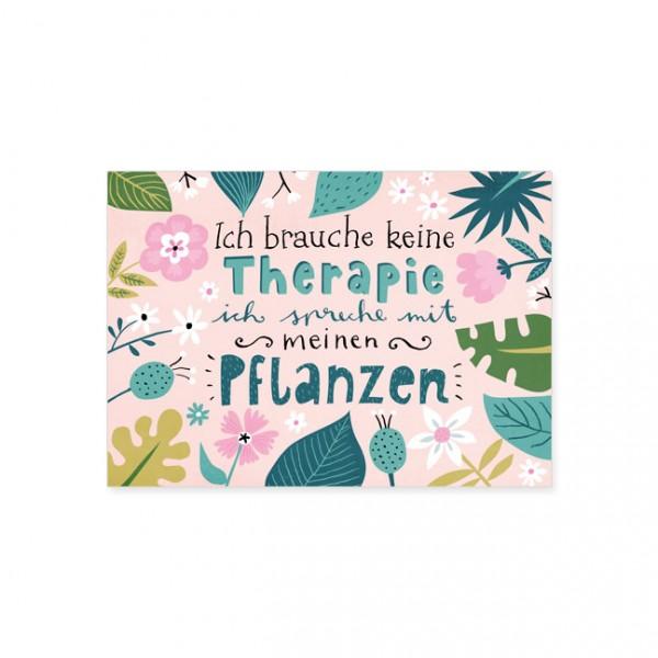 "Postkarte ""Pflanzen Therapie"""