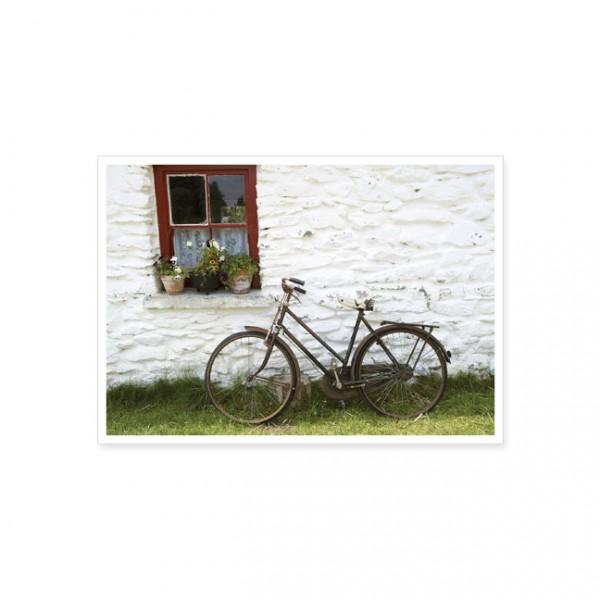 "Postkarte ""Fahrrad an Hauswand"""