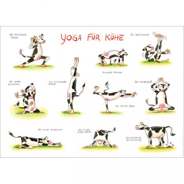 "Poster ""Yoga für Kühe"""