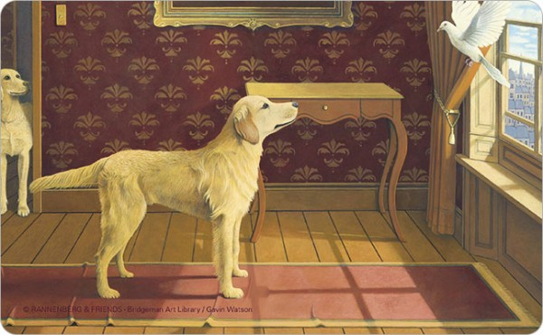 """Brettchen """"Doggs-Bunte Hunde / A Trick of the Tail"""""""