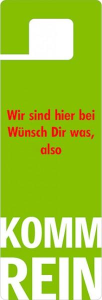 Türhänger 'Wünsch dir was'