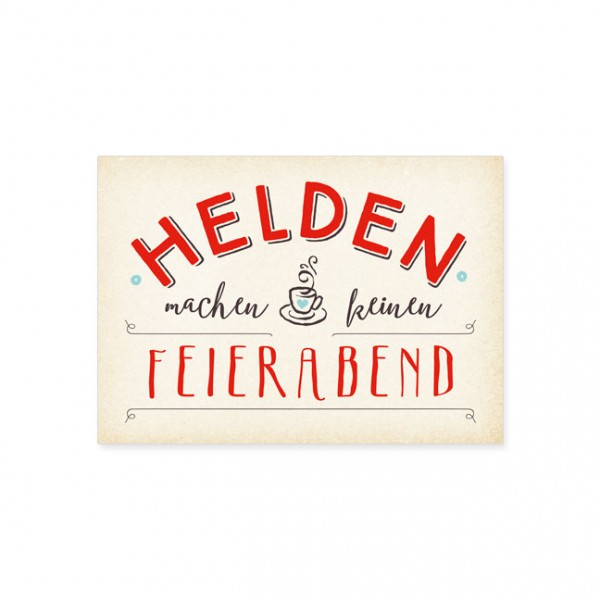 """Postkarte """"Helden"""""""