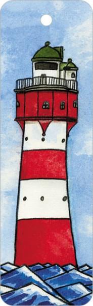 """Lesezeichen """"Leuchtturm 3 v.d. Seite"""""""