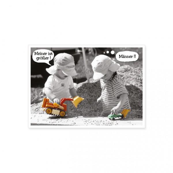 """Postkarte """"Meiner ist größer!"""""""