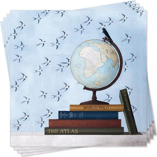 Servietten 'Globus' von Rebecca Campbell