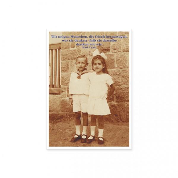 """Postkarte """"wir mögen menschen …"""""""