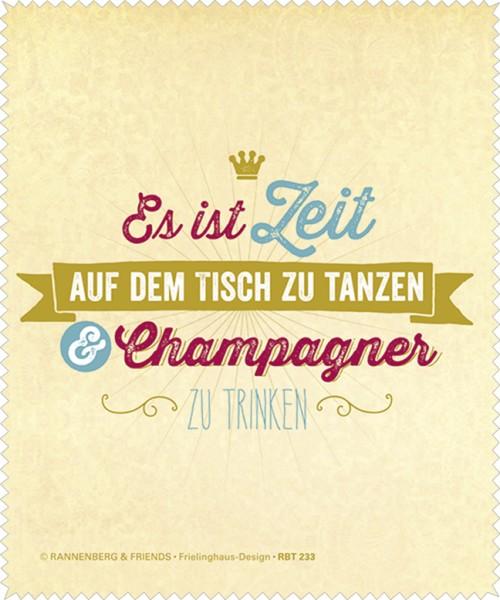 """Brillenputztuch """"Champagner"""""""
