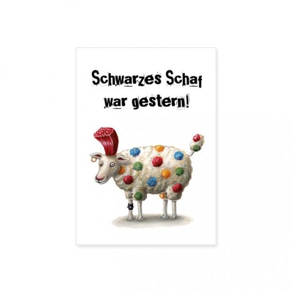 "Postkarte ""Schwarzes Schaf"""