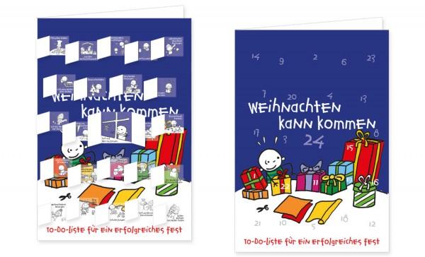 Adventskalenderdoppelkarte 'To-Do-Liste für ein erfolgreiches Fest' von Steffen Meier
