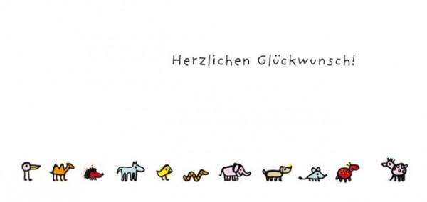"""XXL-Postkarte """"Herzlichen Glückwunsch"""""""