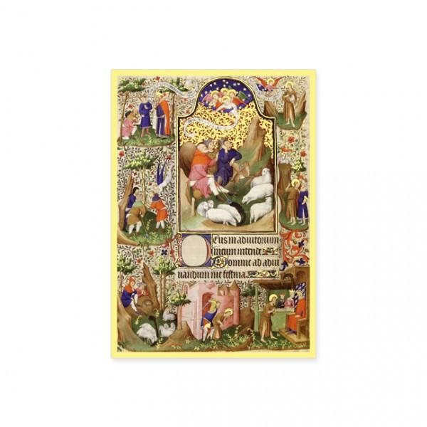 """Postkarte Gold """"Die Verkündigung"""""""