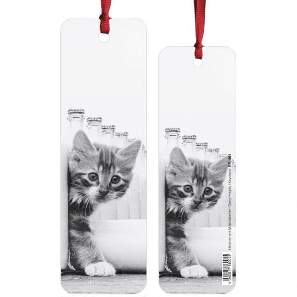 """Lesezeichen """"Kätzchen mit Milchflaschen"""""""