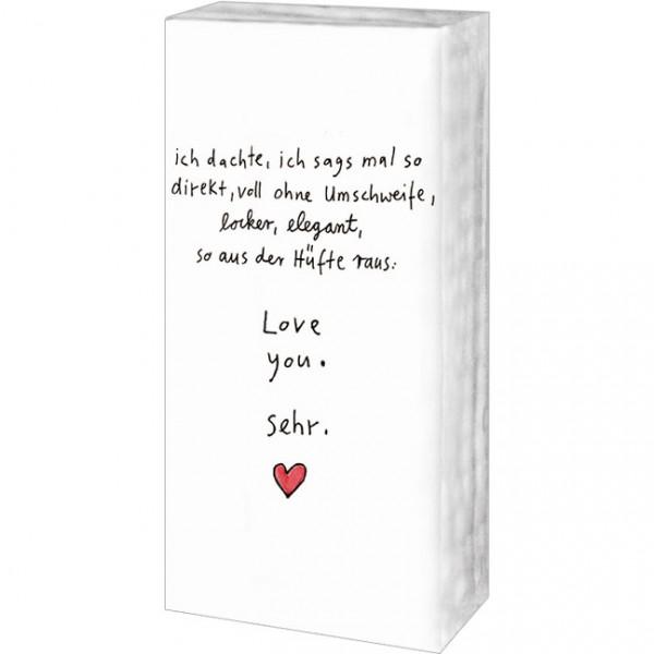 Taschentücher 'Love you sehr' von karindrawings