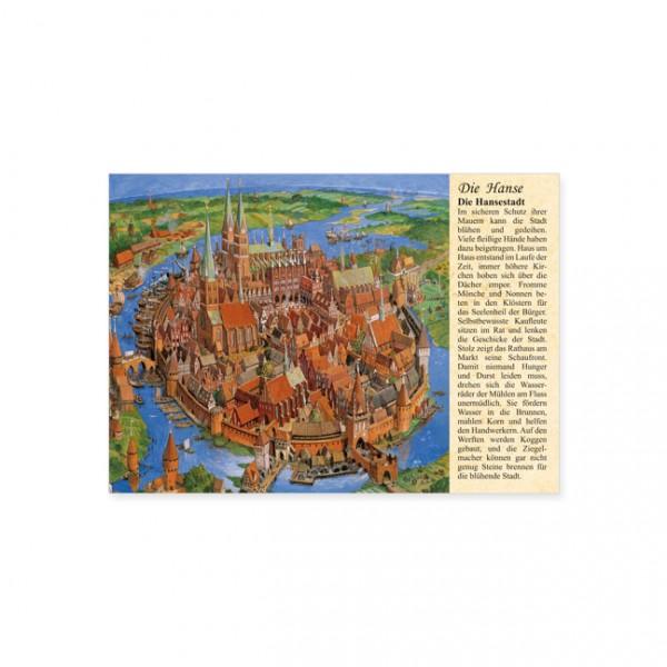 """Postkarte """"Die Hanse: Die Hansestadt"""""""