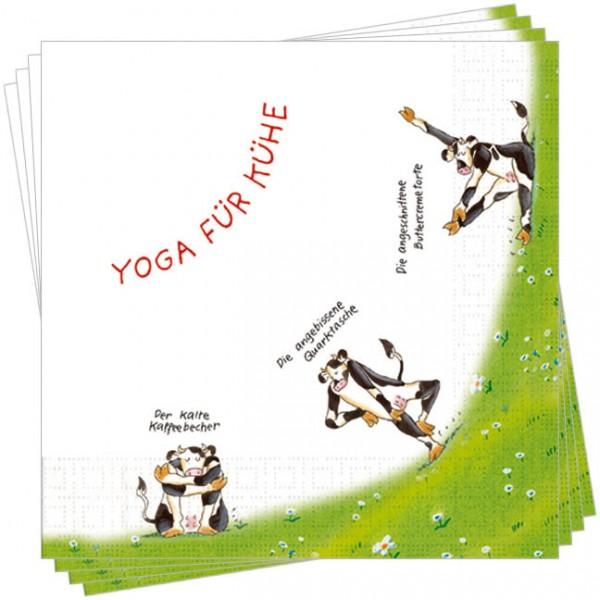 Servietten 'Yoga für Kühe'